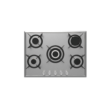 5 Burners Gas Hob dengan Cast Iron Trivet