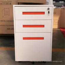 China luoyang atacado escritório mobiliário 3 gaveta de metal móvel pedestal gabinete
