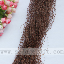 Wild Dark Coffee Artificial Wire Pearl Acrylic Beaded Chains