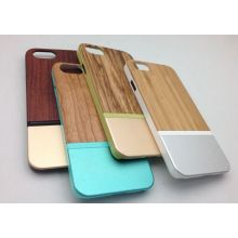 for iPhone 6 Plues Wooden Metal Hybrid Cases Bumper