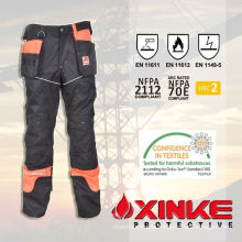 anti-fire cotton nylon protective pants with high abrasion resistant feature