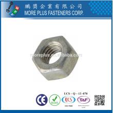 Hecho en Taiwán DIN439 acero Hex Jam Nut