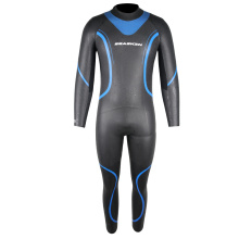 Seaskin Mens Back Zip Triathlon Fullsuit Roupa de mergulho