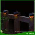 Éclairage populaire de mur de jardin de lumière de barrière de LED 2LED Mini avec la lumière blanche et chaude de couleur blanche
