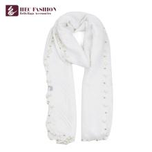 HEC New Fashion Logo Print Polyester Plaid Seide Winter Schal für Frauen