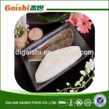 China atacado novos produtos congelados dente de solha filé de peixe filé para comida japonesa sashimi