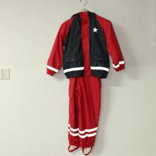 Твердые красные и синие пу Светоотражающий дождя куртку для детей/Детские набора