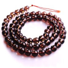 Loose 6MM Natural Smoky Quartz Round Beads 16Inch