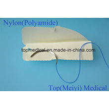 Sutura quirúrgica con aguja - Nylon Monofilamento Sutura no absorbible
