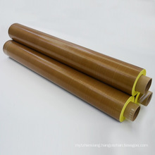 Brown PTFE coated fabric tape with adhesive