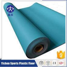 Plancher sportif 100% pur de PVC de plastique de Badminton de Coulorful adapté aux besoins du client