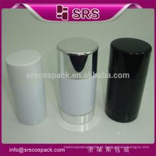 Forma de bola embalagem de plástico recipiente e rolo em frasco de desodorante plástico 75ml para compacta cosméticos