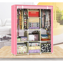 Assemble Fabric Portable Folding Cloth Wardrobe