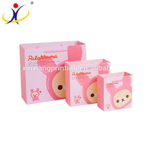 Customized Logo Cartoon Design Pink Printing Paper and Gift Paper Bag Packaging