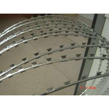 Galvanisierter Eisen Rasiermesser Stacheldraht aus professioneller Fabrik