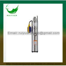 370W 0.5HP alambre de aluminio bomba de tornillo sumergibles Qgd completo acero inoxidable con interruptor de flotador