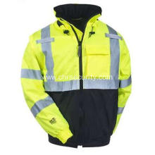 Men's High-Visibility Waterproof Insulated Hooded Jacket