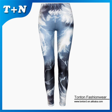 Nueva costumbre impresas leggings spandex tight sublimación