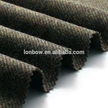 Günstige 100% Wolle grüne Jacke Stoff Wolle Tweed auf Lager