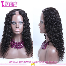 Hochwertiges Jungfrau-Menschenhaar U-Teil-Perücke Afro-verworrenes gelocktes U-Teil Perücke der Qualitäts-7A
