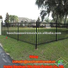 Zinc steel pipe backyard fence