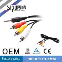 SIPU Haute Qualité numérique 1.5m AV Câble 3.5mm 3 Lignes À 3 Câble Vidéo Audio RCA