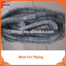Mink Fur Piping por colas reales de visón