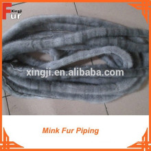 Mink Fur Piping by real mink tails