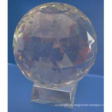 Bola de facetas de vidro claro de 50mm