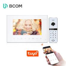 Smart home system ip wifi night vision waterproof video doorbell , Tuya smart app support video door phone intercom system