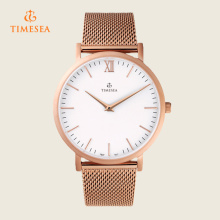 Simple Design Custom Logo Mesh Bracelet Mens Wrist Watch 72340
