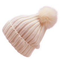 Custom made high quality hand knitted woolen caps for girls
