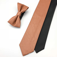 Men Skinny Krawatten Leder Fliege