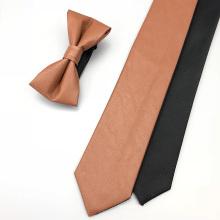 Men Skinny Ties Leather Bow Tie
