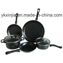 7PCS Aço Carbono Non-Stick Cookware Set utensílios de cozinha