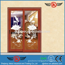 JK-AW9114 high quality modern decorative aluminum sliding door