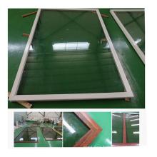 12mm tempered clear glass aluminium profile fixed glass window