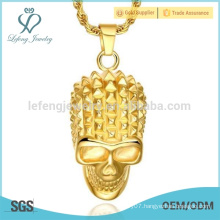 Gold plated stainless steel pendant, 18k gold plated pendant