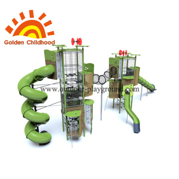 Double Turbo Outdoor Playground Equipment para niños