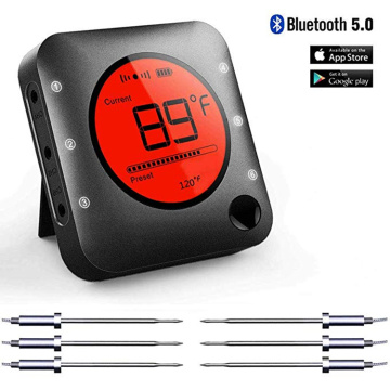 Thermomètre de barbecue Bluetooth Max 6 sondes pour griller