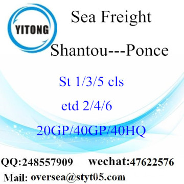 Shantou Port Sea Freight Shipping ke Ponce