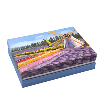Chinese supplier customized color printed book shaped cardboard gift box packaging