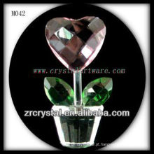 K9 Coração De Cristal Em Forma De Flor