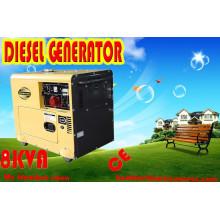 Precio bajo 6000W 6kw generador silencioso diesel portable, 7.5kVA Tipo silencioso
