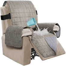 Living Room Ultra 100% Waterproof Suede Recliner Chair Slipcover Covers Protector