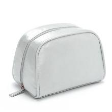 Bolsa para lavagem de cosméticos para higiene pessoal Lady Fashion Silver Satin PU (YKY7517)