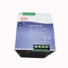 Original meanwell 960W slim 3 phase high input voltage din rail power supply 48VDC 20A TDR-960-48