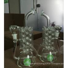Recycler Inline Perc Heating Radiator Shape Glass Smoking Water Pipe