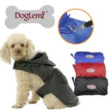 Vente chaude en plein air résistant à l'humidité en nylon léger dans l'imperméable de chien de poche