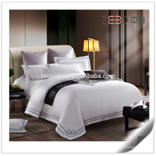 5 Star Hotel Used 80s Bedding Sets Cotton White King Size Hotel Sheets